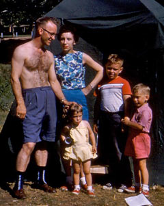 the family at Yellowstone Park, 1958